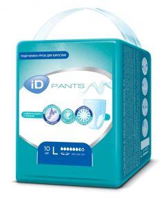 Подгузники-трусы для взрослых iD Pants L, 10шт.