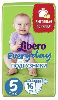 Подгузники Libero Everyday Size 5 (11-25кг), 16шт.