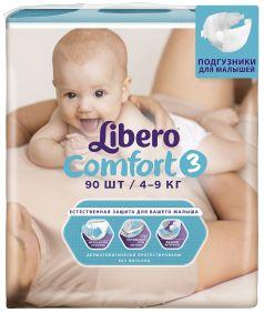 Подгузники Libero Comfort Size 3 (4-9кг), 90шт.