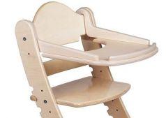 Столик для кормления «Два кота» к стулу М1, белый дуб