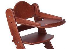 Столик для кормления «Два кота» к стулу М1, красное дерево