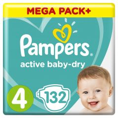 Подгузники Pampers Active Baby-Dry Maxi (9-14 кг), 132шт.