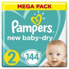 Подгузники Pampers New Baby-Dry Mini (4-8 кг), 144шт.