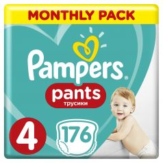 Подгузники-трусики Pampers Pants Maxi (9-15 кг), 176шт.