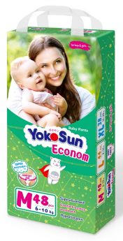 Подгузники-трусики YokoSun Econom, размер M (6-10кг), 48шт.