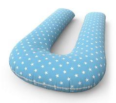 Подушка Петербургский уют для беременных и кормящих формы U +  наволочка Stars Blue