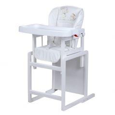 """Стол-стул для кормления Globex """"Мишутка"""", с регулируемой спинкой, белый"""