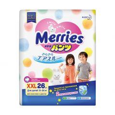 Японские трусики-подгузники Merries XXL 15-28 кг, 26шт.