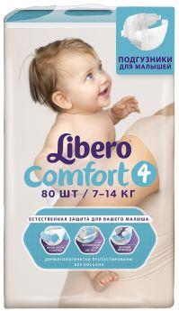 Подгузники Libero Comfort Size 4 (7-14кг), 80шт.