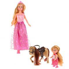 "Кукла ""Карапуз"" София с дочерью на лошадке"