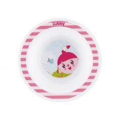 "Тарелка Lubby ""Малышарики"", розовая, 200мл"