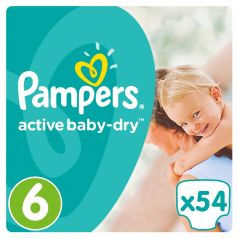 Подгузники Pampers Active Baby-Dry Extra Large 6 (15+ кг), 52шт.