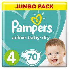 Подгузники Pampers Active Baby-Dry Maxi 4 (9-14кг), 70шт.