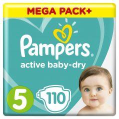Подгузники Pampers Active Baby-Dry Junior 5 (11-16кг), 110шт.