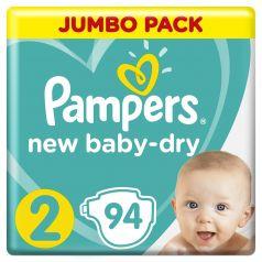 Подгузники Pampers New Baby-Dry Mini 2 (4-8кг), 94шт.