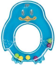 "Погремушка Baboo ""Пингвин"", 0+, синяя"