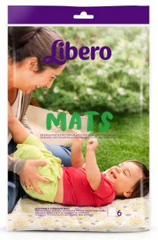 Пеленки Libero Mats, 50х70см, 6шт.
