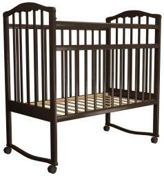 Детская кроватка-качалка Агат Золушка-1, шоколад