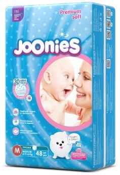 Подгузники-трусики Joonies Premium Soft, размер M (6-11кг), 48шт.