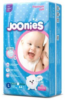 Подгузники-трусики Joonies Premium Soft, размер L (9-14кг), 44шт.