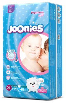 Подгузники-трусики Joonies Premium Soft, размер XL (12-17кг), 40шт.