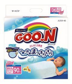 Японские подгузники Goon N/B до 5кг, 90шт.