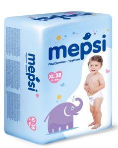 Детские подгузники-трусики Mepsi XL, 12-22кг, 38шт.