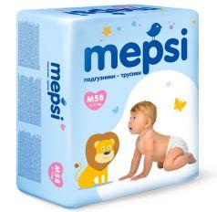 Детские подгузники-трусики Mepsi M, 6-11кг, 58шт.