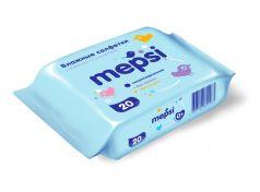 Детские салфетки влажные Mepsi, 20шт.