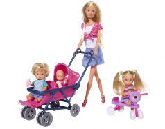 "Кукла Simba ""Штеффи с детьми и принадлежностями"", 5736350, 29см"