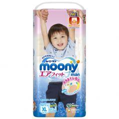 Японские подгузники-трусики Moony для мальчиков XL, 12-17кг, 38шт.