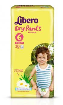 Трусики Libero Dry Pants 6 (13-20кг), 30шт.