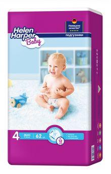Подгузники Helen Harper Baby Maxi, 7-14кг, 62шт.