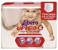 Трусики Libero Up&Go Size 6 (13-20кг), 28шт.