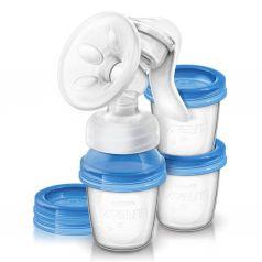 Молокоотсос ручной Philips Avent SCF330/13 с контейнерами для хранения молока