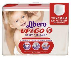 Трусики Libero Up&Go 5, 10-14кг, 30шт.