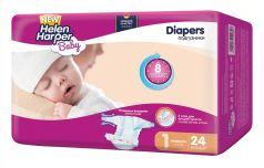 Подгузники Helen Harper Baby Newborn, 2-5кг, 24шт.