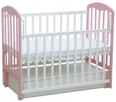 Детская кровать Фея 328, бело-розовая