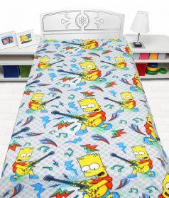 """Плед флисовый Mona Liza """"Simpsons music"""", 150х200см"""