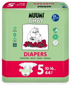 Подгузники Muumi Baby Maxi+, 10-16 кг, 44шт.