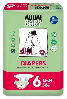 Подгузники Muumi Baby Junior 6, 12-24 кг, 36шт.