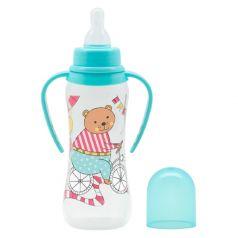 Бутылочка Just Lubby с соской медленный поток и ручками, 250мл