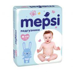 Детские подгузники Mepsi M, 6-11кг, 64шт.