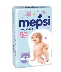 Детские подгузники Mepsi L, 9-16кг, 54шт.
