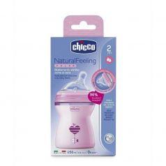 Бутылочка с силиконовой соской Chicco Natural Feeling с флексорами и наклоном, 250мл