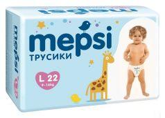 Детские подгузники-трусики Mepsi L, 9-16кг, 22шт.
