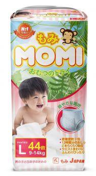 Японские трусики-подгузники Momi L (9-14кг), 44шт.