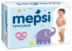 Детские подгузники-трусики Mepsi XL, 12-22кг, 19шт.