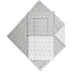 "Набор для коляски FunEcotex ""Звездочки"": матрасик, подушка и одеяло"