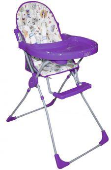 """Стульчик для кормления Selby 152 """"Совы"""", фиолетовый"""